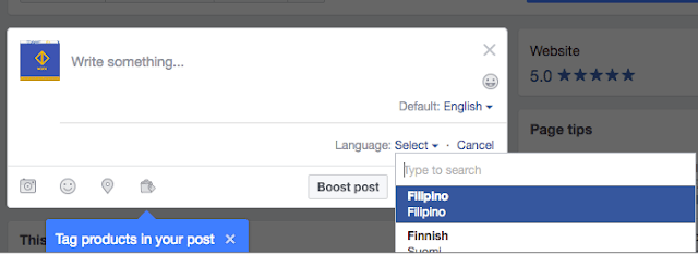 How Do I Post in Different Languages On Facebook Page?