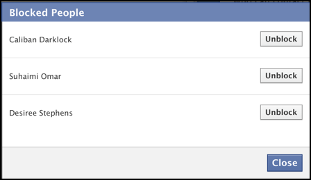 How Can I View My Blocked List on Facebook And Unblock People