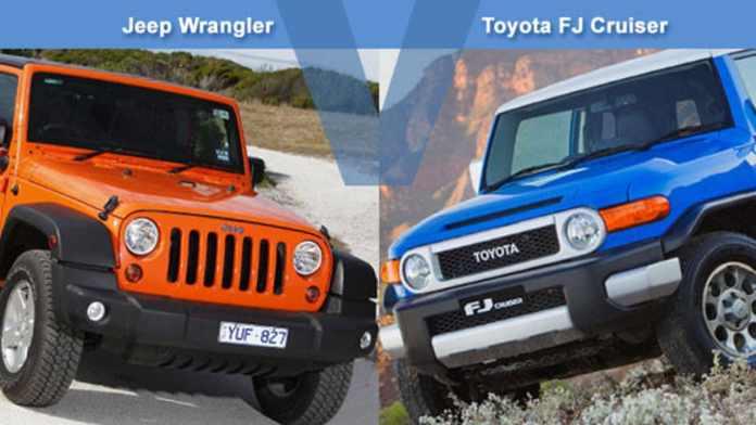 Comparison between Toyota FJ Cruiser and Jeep Wrangler