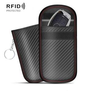 2 stuks Antimagnetische RFID auto belangrijke mobiele telefoon tas afscherming instellen straling Cell Phone Pocket