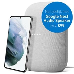 Samsung Galaxy S21 5G 128GB Phantom white met abonnement van T-Mobile