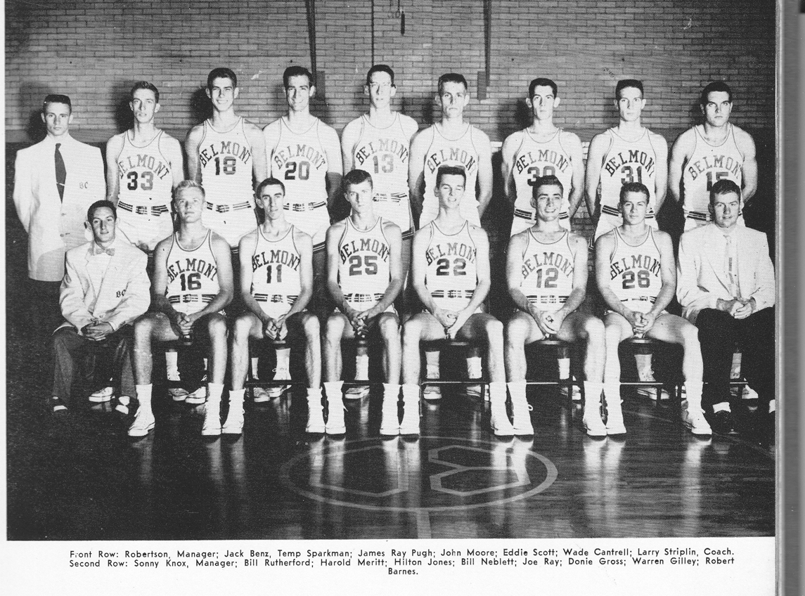 Early 50s Belmont College men's basketball team