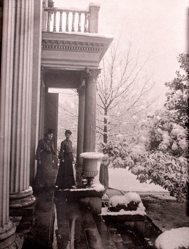Ida Hood and Susan Heron on Mansion Porch