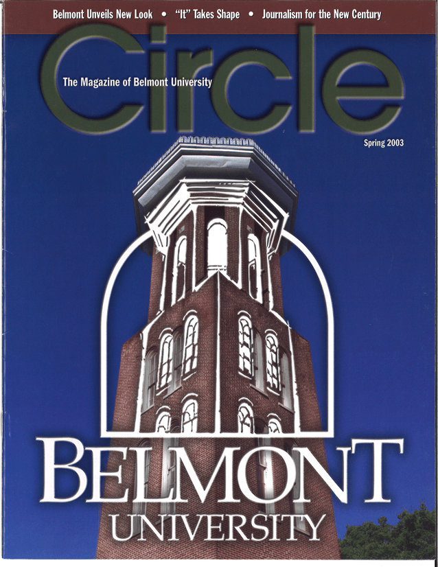 Belmont's 2003 Circle Magazine unveils new University logo
