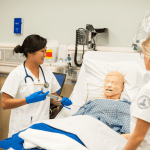 Nursing students learn skills on simulation patients