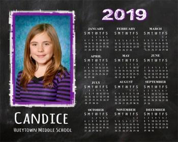 2019 Calendar Example