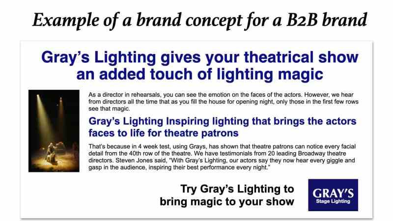 Brand concept example B2B brands