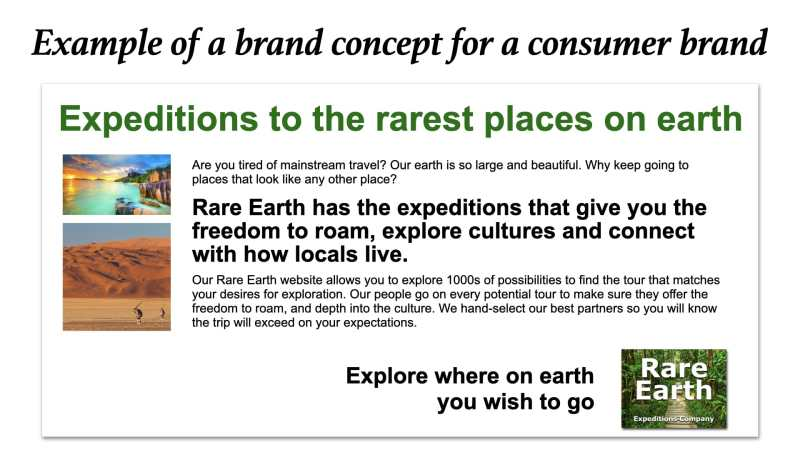 Brand concept example consumer brands
