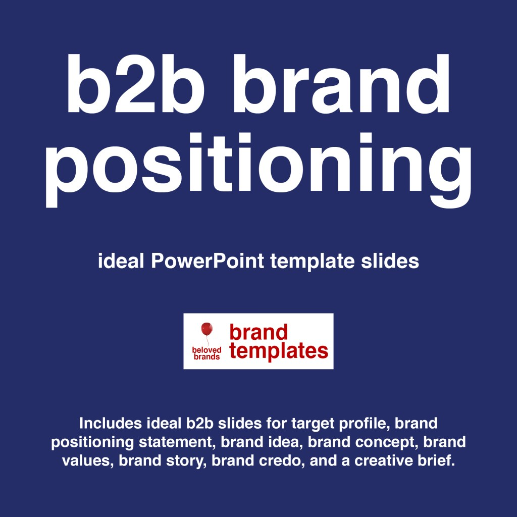 B2B Brand positioning