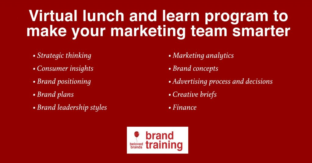 Marketing Training Lunch and Learn program