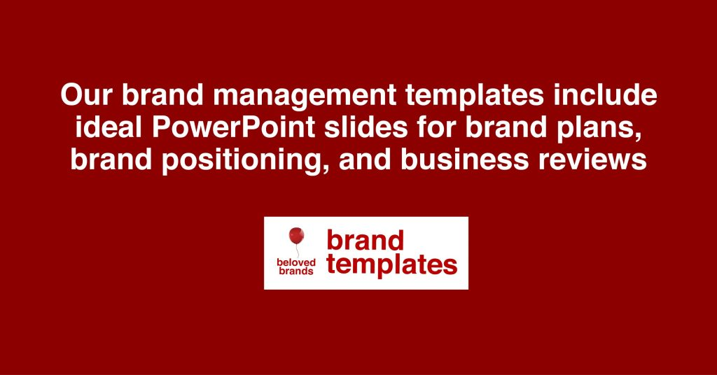 Brand Management Templates and Marketing Templates