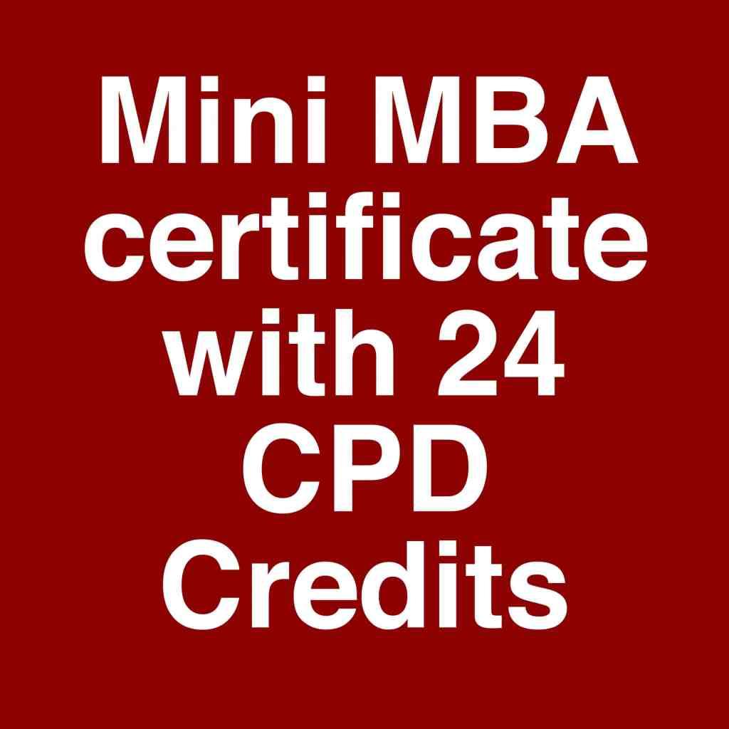 Mini MBA brand management certificate