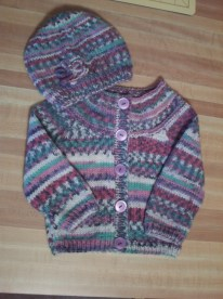 cardigan with matching hat!