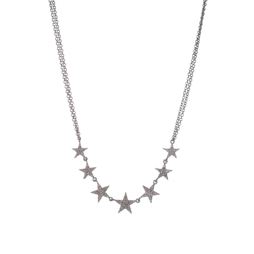 Diamond Stars Necklace