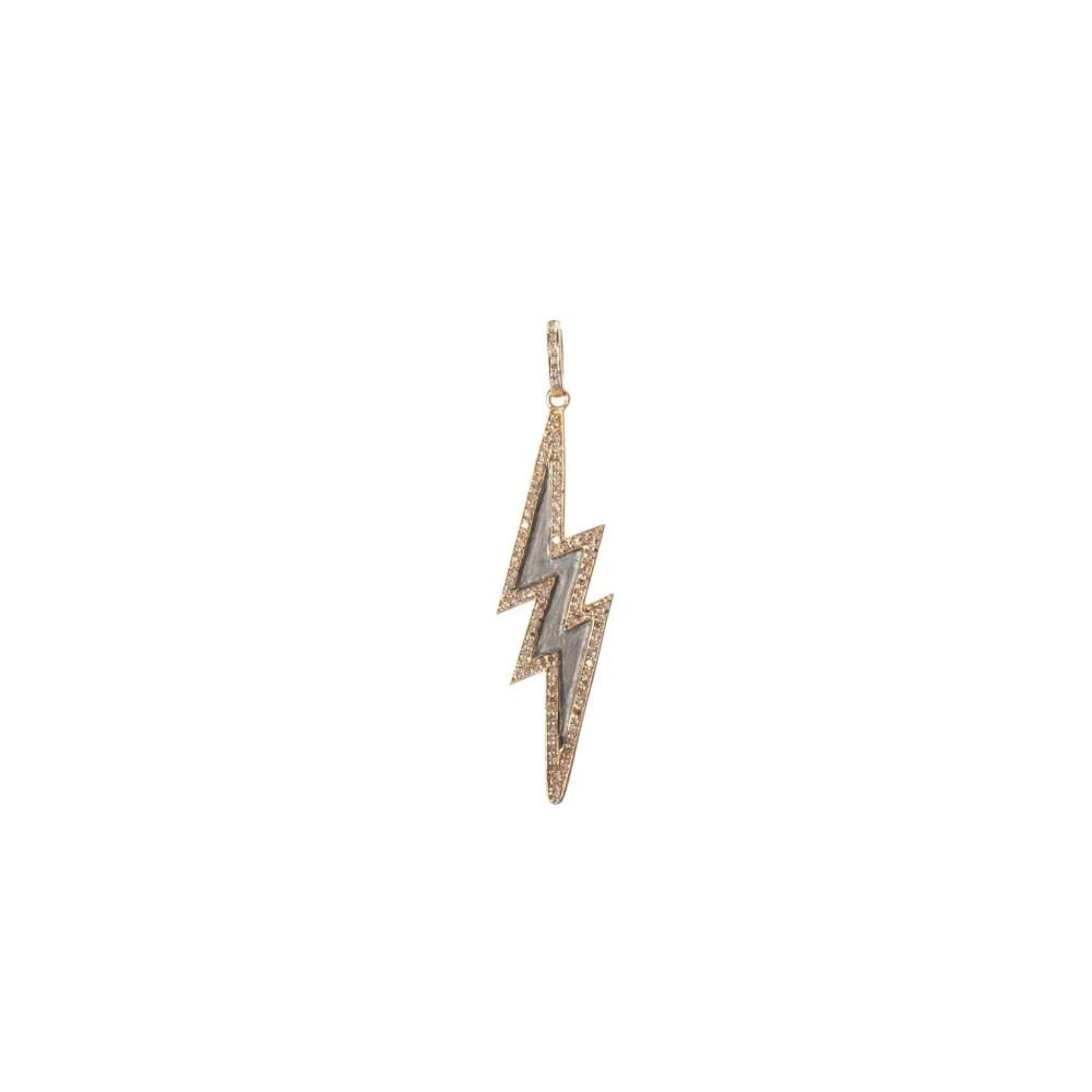 Diamond Lightning Bolt Charm