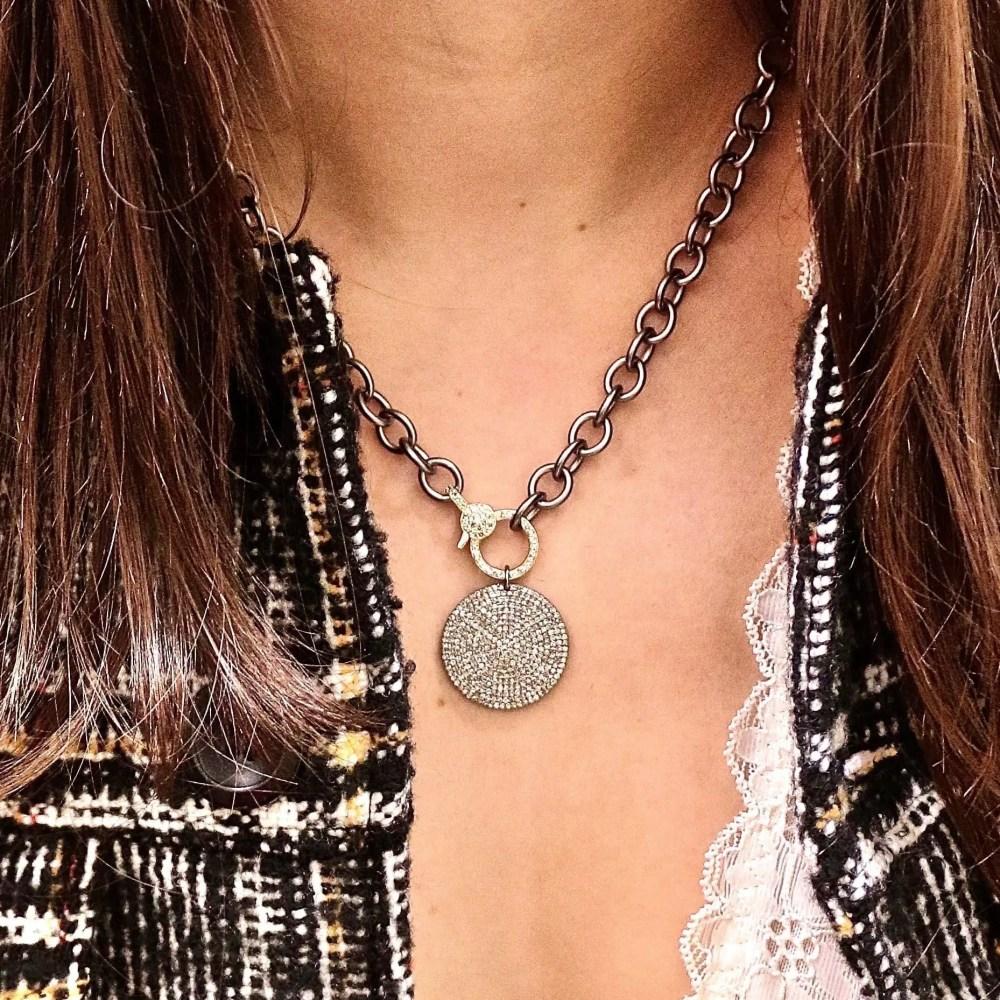 Medium Diamond 2-Sided Clasp Chain Necklace