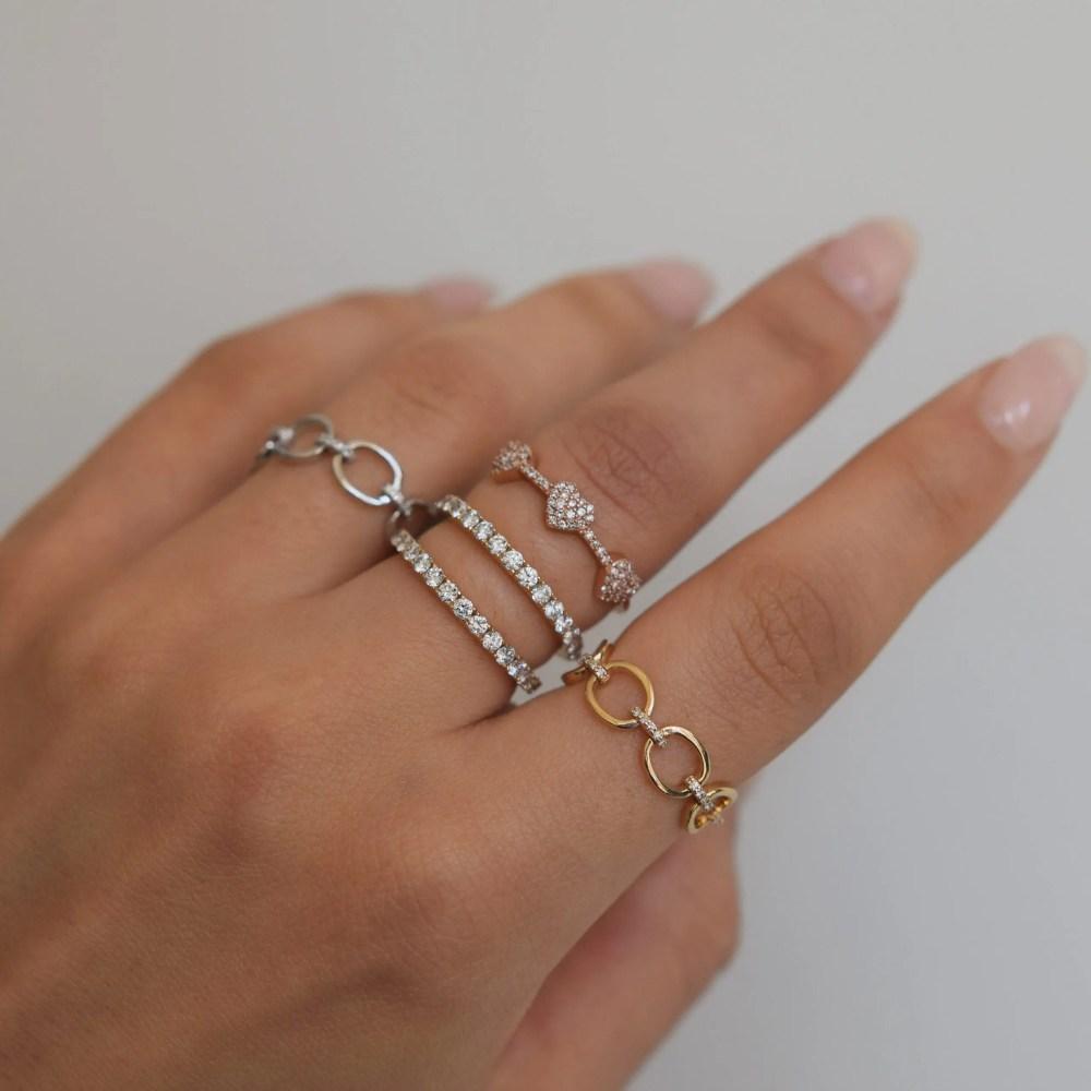 3 Hearts Mini Diamond Ring