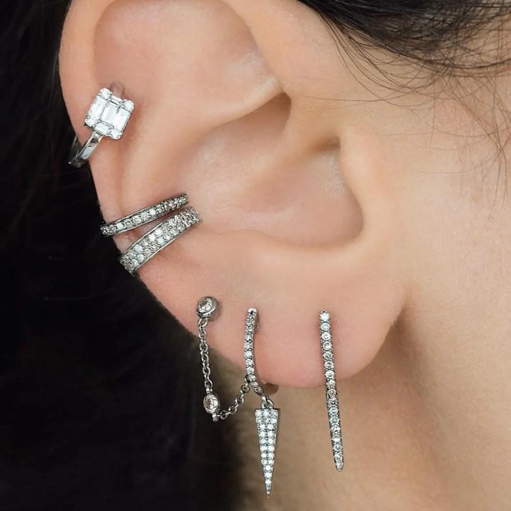 Diamond Bar Ear Jackets