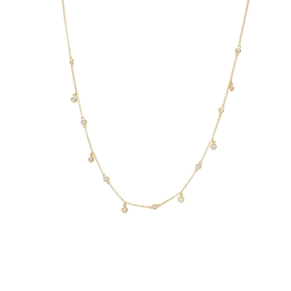 Diamond By-the-Yard with Diamond Drops Yellow Gold