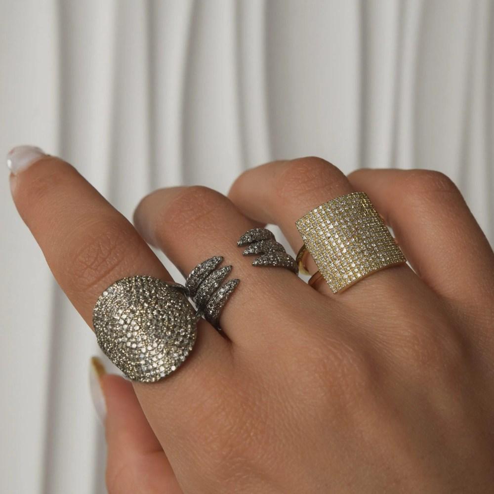 Diamond Square Statement Ring
