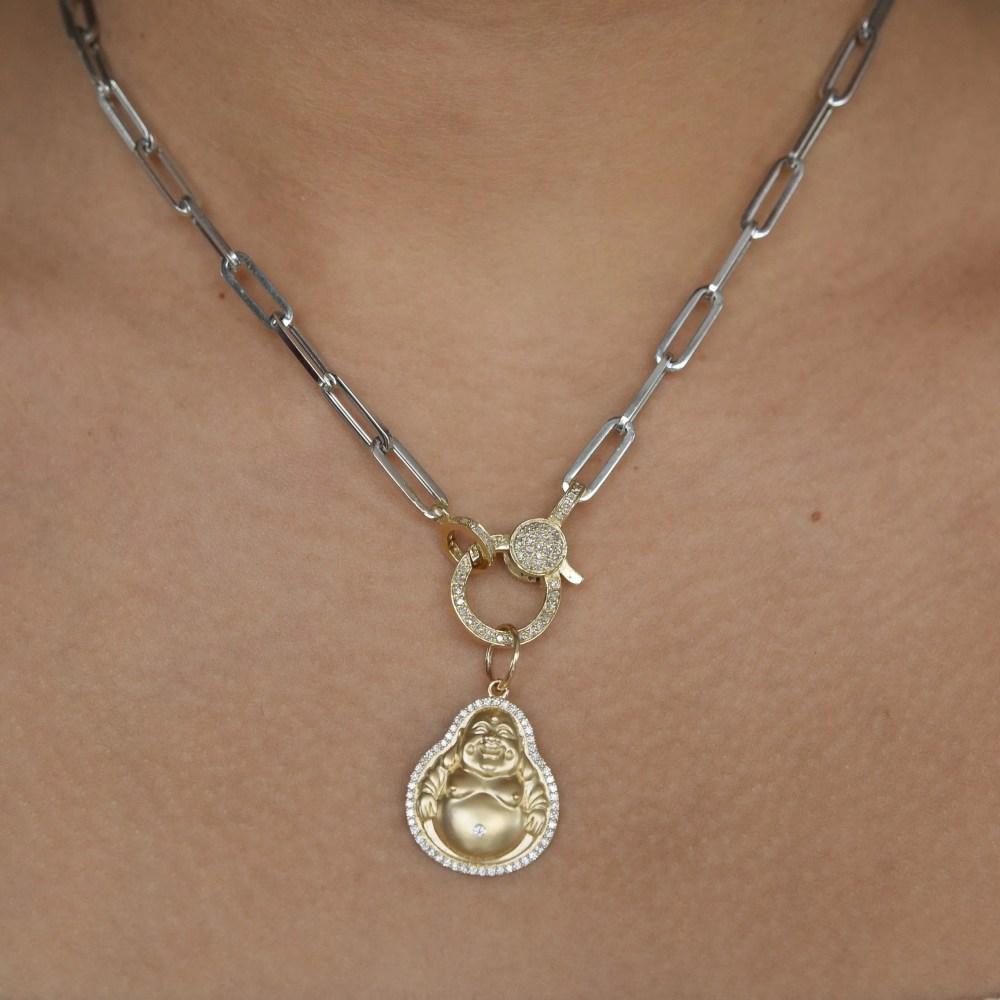 Medium Diamond Happy Buddha Charm