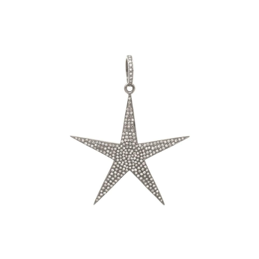 Diamond Large Star Pendant