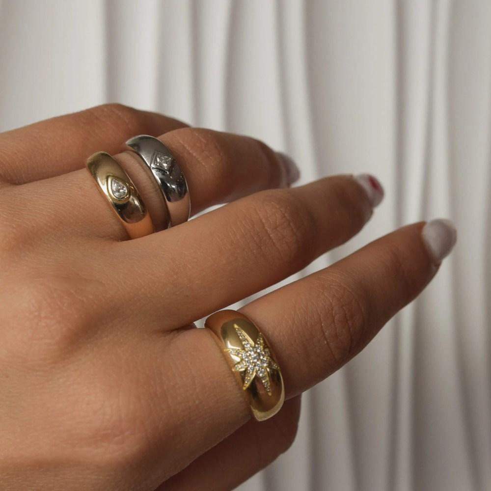 Diamond Star Ring Gold