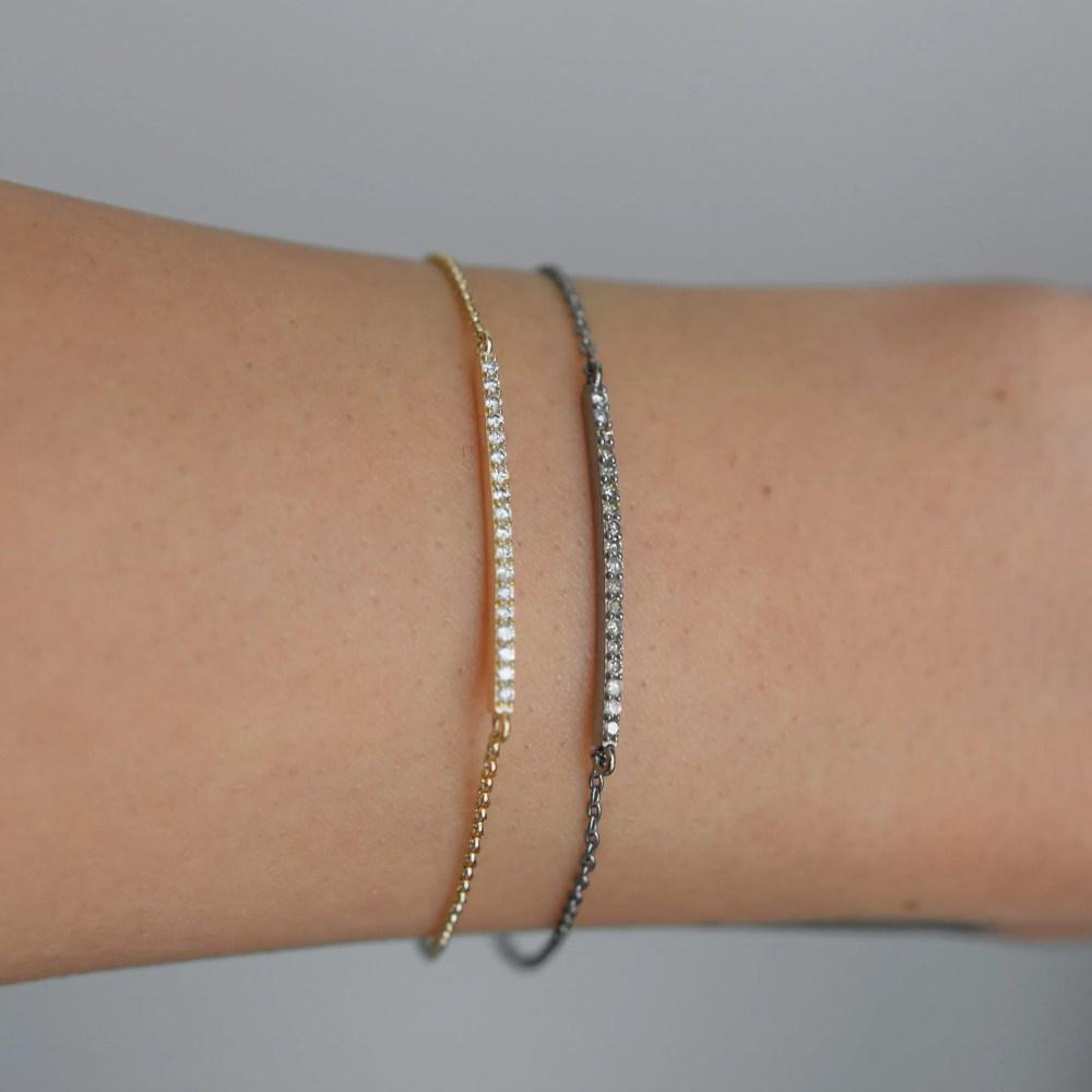 Diamond Bar Chain Bracelet