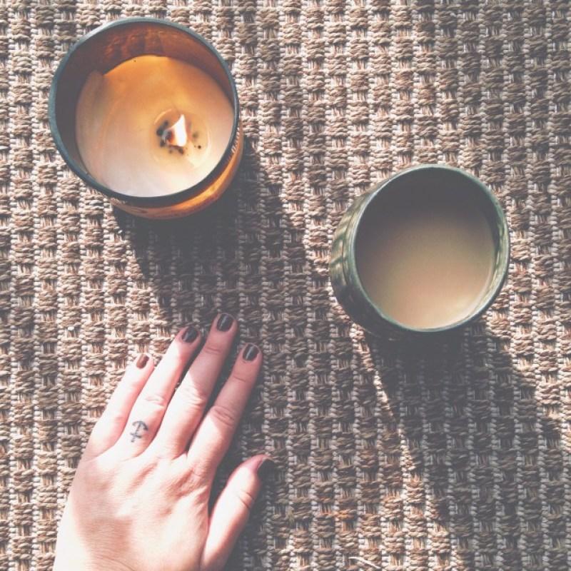 meditation balcony hand