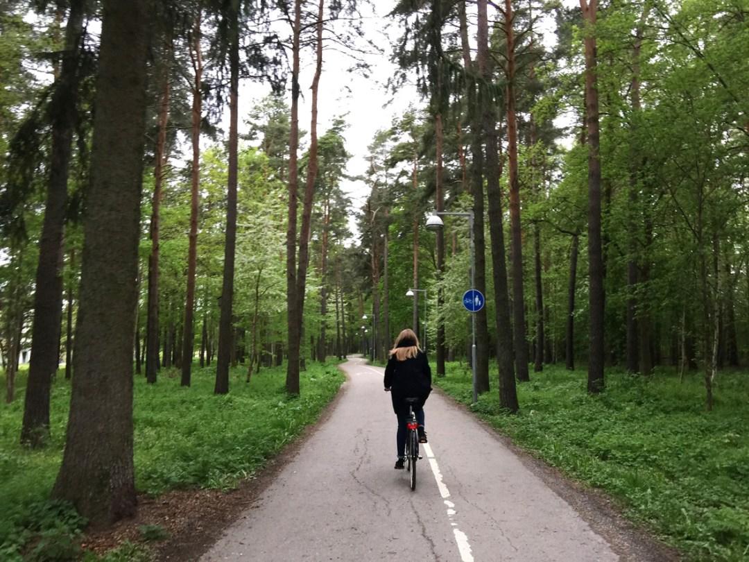 biking-trees