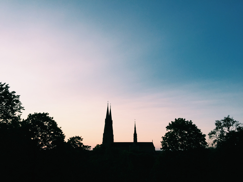 cathedral-uppsala-sunset