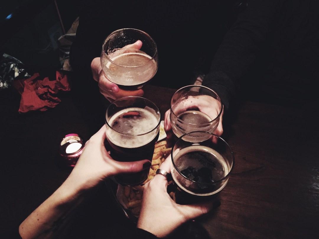 christmas family pub beer