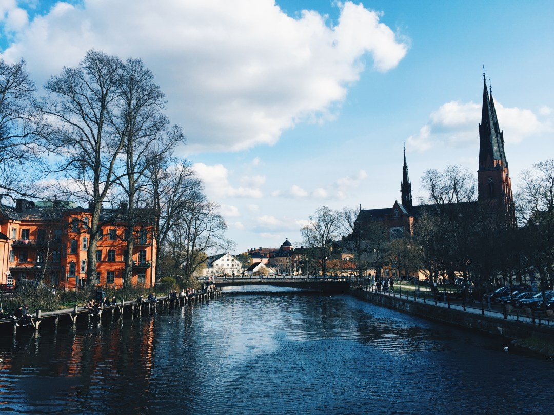 uppsala valborg spring cathedral river