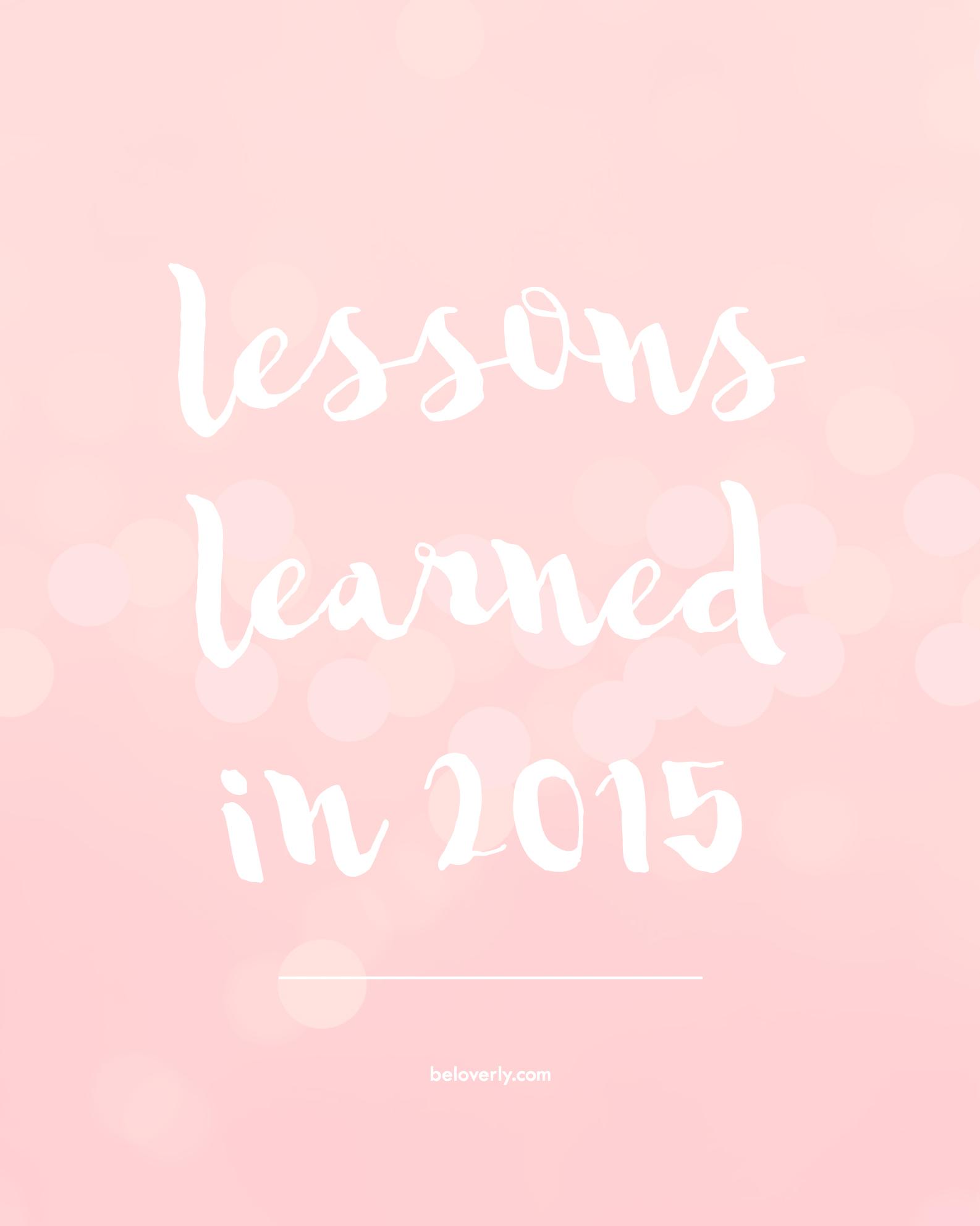 lessonslearnedin2015