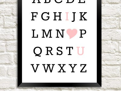 Alphabet Love Print | Free Printable