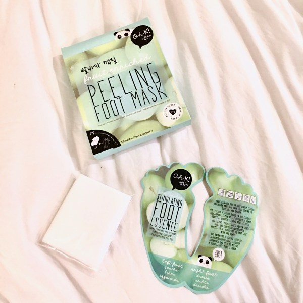 OhK! Peeling Foot Mask | Below Freezing Beauty