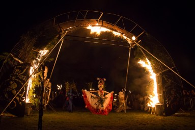Fire Arch at Beltane Fire Festival 2017 | Copyright James Armandary for Beltane Fire Society.