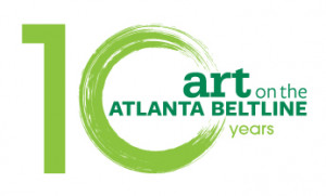 Art on the Atlanta BeltLine 10 year anniversary logo