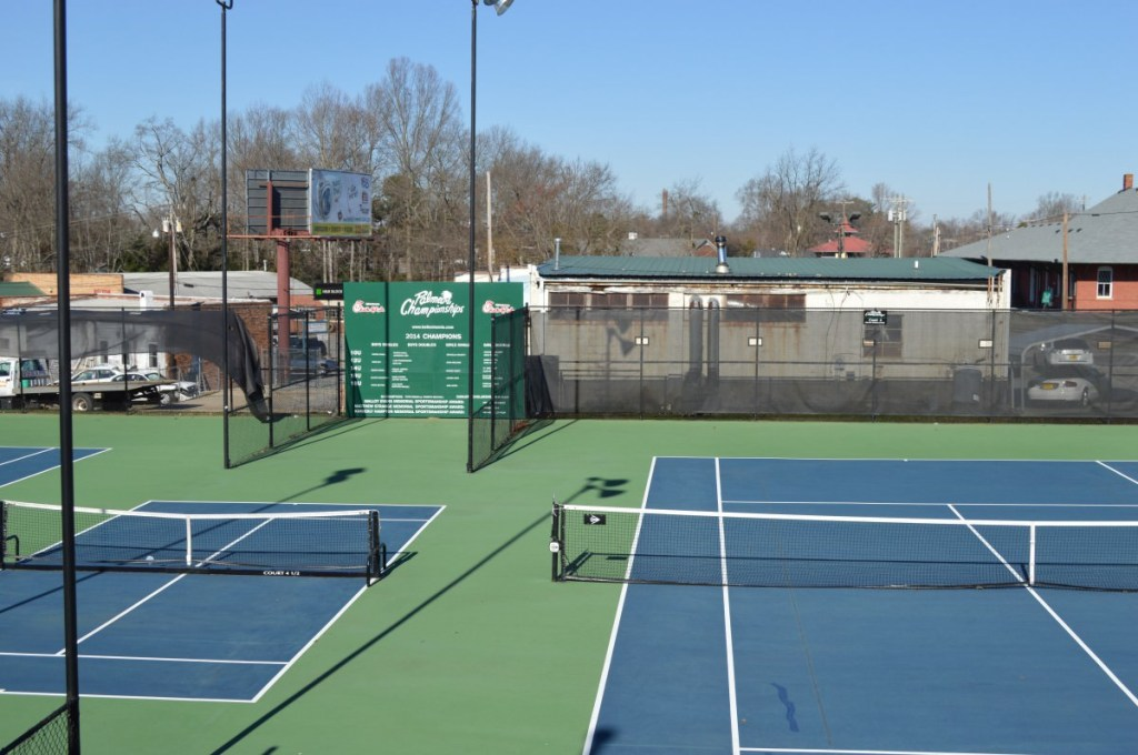 Courts 4, 4 1/2 and 5 at the Belton Tennis Center