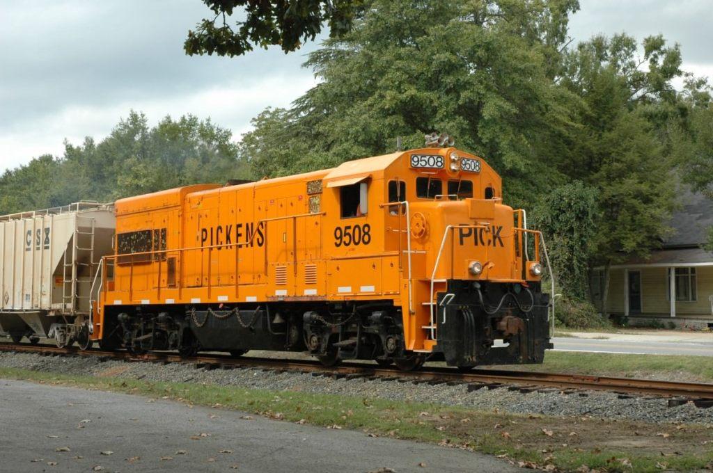 Picken's Railroad trains still pass through Belton several times each day