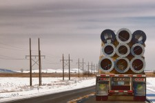 Hauling Pipe in North Dakota