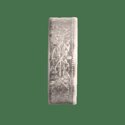 """Bague Belvetica, Frs 1.-, design """"Fleurs"""", gris, brillante."""