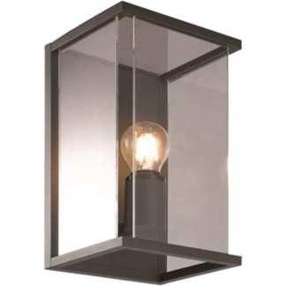 Bore I utelampe vegg mørk grå IP54 | Belysning.online