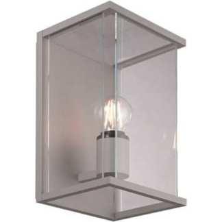 Bore I utelampe for vegg sølv IP54 | Belysning.online