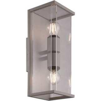 Bore II utelampe vegg sølv IP54 | Belysning.online
