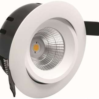 GREVEN TUNE, LED-DOWNLIGHT 230V, 6W, HVIT, IP21 | Belysning.online