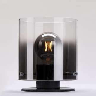 Roxy Bordlampe 20 Cm E27 Sort/Smoke | Belysning.online