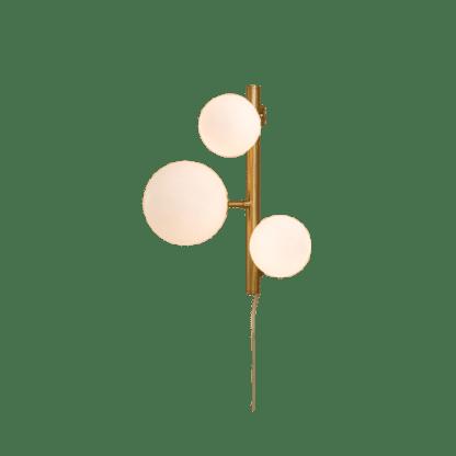 Molekyl vegglampe 3 x G9 25W Matt messing/Hvit   Belysning.online