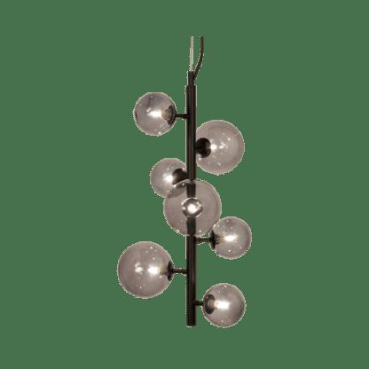 Molekyl taklampe loddrett 58 Cm Sort/Røk | Belysning.online