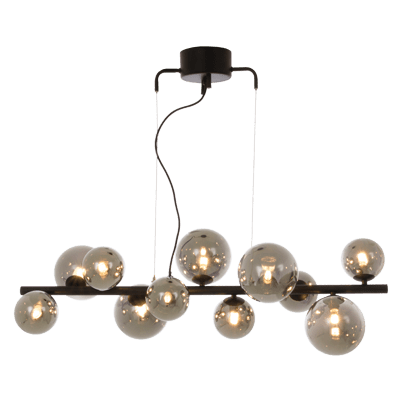 Molekyl bordlampe 3 x G9 25W Messing/Hvit | Belysning.online